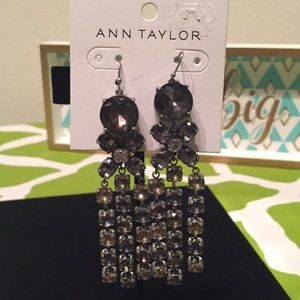 NWT- Ann Taylor Antique Black Earrings